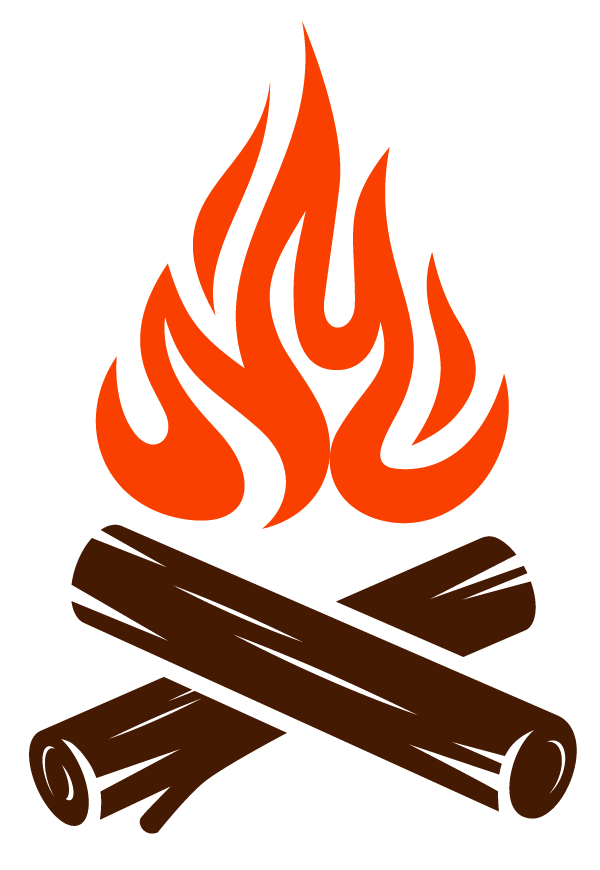 firewood and flame icon